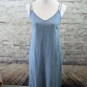 The GAP Chambray Lyocell Sleeveless Pockets Halter